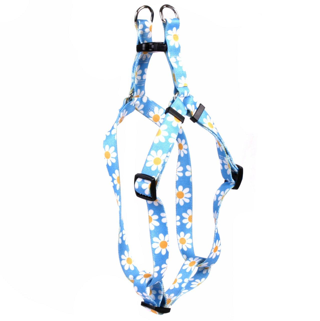 Yellow Dog Design Standard Step-in Harness, Blue Daisy, Medium 15'' - 25'' by Yellow Dog Design
