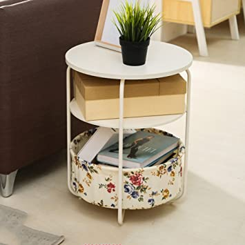D L Bois Massif Sac En Tissu Table D Appoint Rond Table Canape