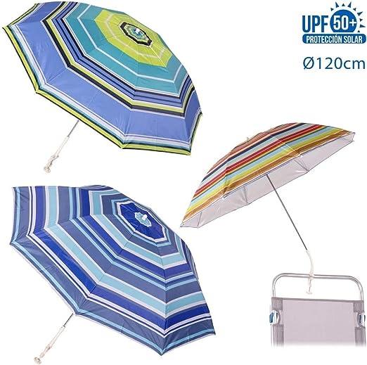 JUINSA 13100 Sombrilla Silla Playa protecc.4col.120cm: Amazon.es: Jardín