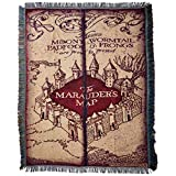 """Harry Potter,""""Marauder's Map"""" Woven Tapestry Throw Blanket, 48"""" x 60"""""""