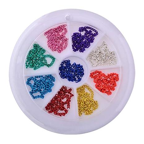 DIY decoración de uñas Arte Rhinestone Adorno Cadena para Mujer Parche Dorado Ruedas Ordenador