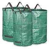 KORAM 3-Pack Garden Waste Bags Reusable Gardening Bag Collapsible Yard Lawn Leaf Bag - 2x 72 Gallons, 1x 32 Gallons - Garden Gifts for Men & Women