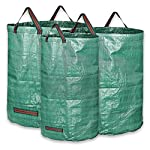 KORAM 3-Pack Garden Waste Bags Reusable Gardening Bag Collapsible Yard Lawn Leaf Bag - 2x 72 Gallons, 1x 32 Gallons - Garden Gifts for Men & Women