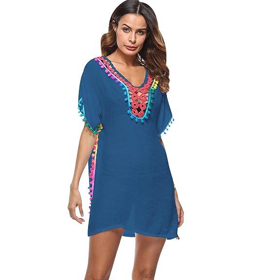 e797456d1 Vestidos de Playa Vestidos Pareos Playeros Vestido Playa Mujer Kaftan  Camisolas Caftanes Bluson Tunica Blusas Playa