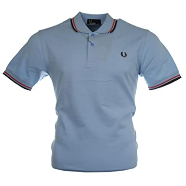 de6db829a Fred Perry Mens Light Blue Twin Tipped Regular Fit Polo Shirt M  Fred Perry   Amazon.co.uk  Clothing