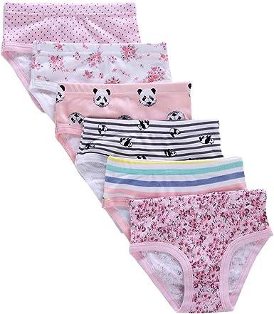 Pack of 6 Toddler Girl Soft Cotton Underwear,Assorted Briefs Panties