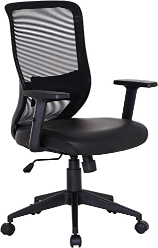 VECELO Home Office Chair for Task Desk Work-Black