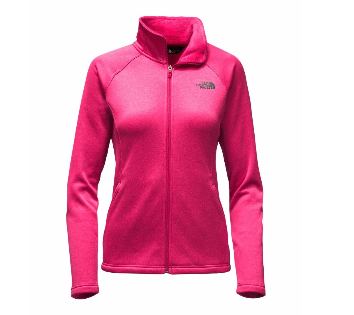 The North Face Women's Agave Full Zip Cerise Pink Heather Size X-Large