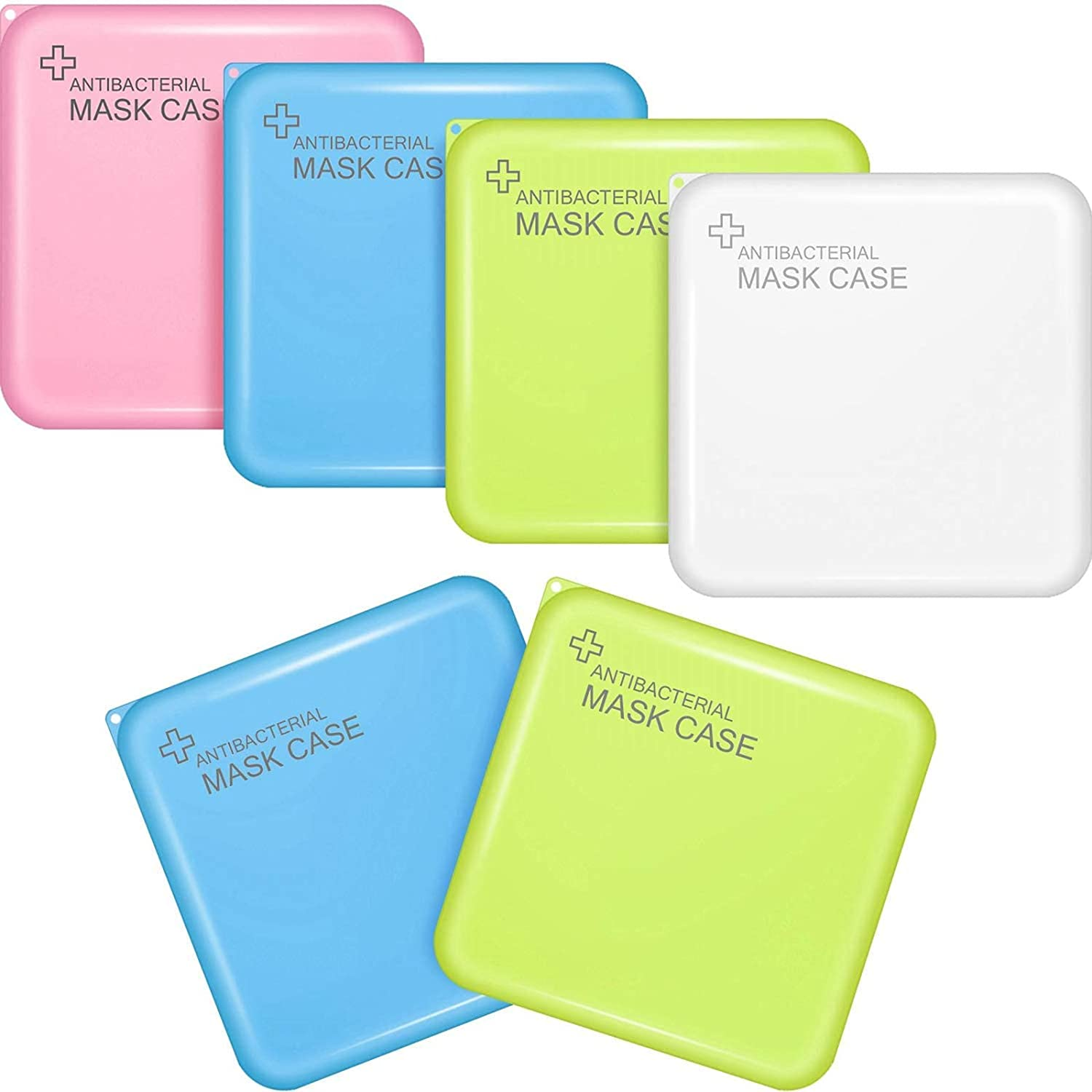 Plastic Storage Face Protector Case Organizer Reusable Keeper Folder, Portable Plastic Storage Boxes with Lids, Storage Clip Foldable Storage Organizer Case (Mixed Color)