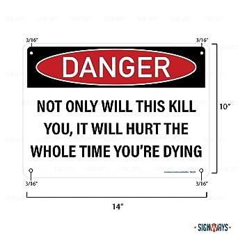 Warning We Have Guns and Shovels Laminated Funny Sign