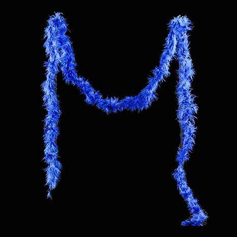 EMVANV - Tira de plumas de 2 m para disfraz de fiesta de boda, Sapphire