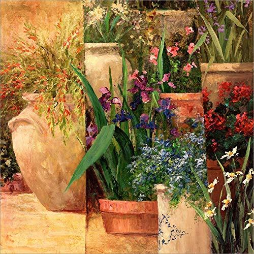Flower Pots Left by Art Fronckowiak Laminated Art Print, 20 x 20 inches