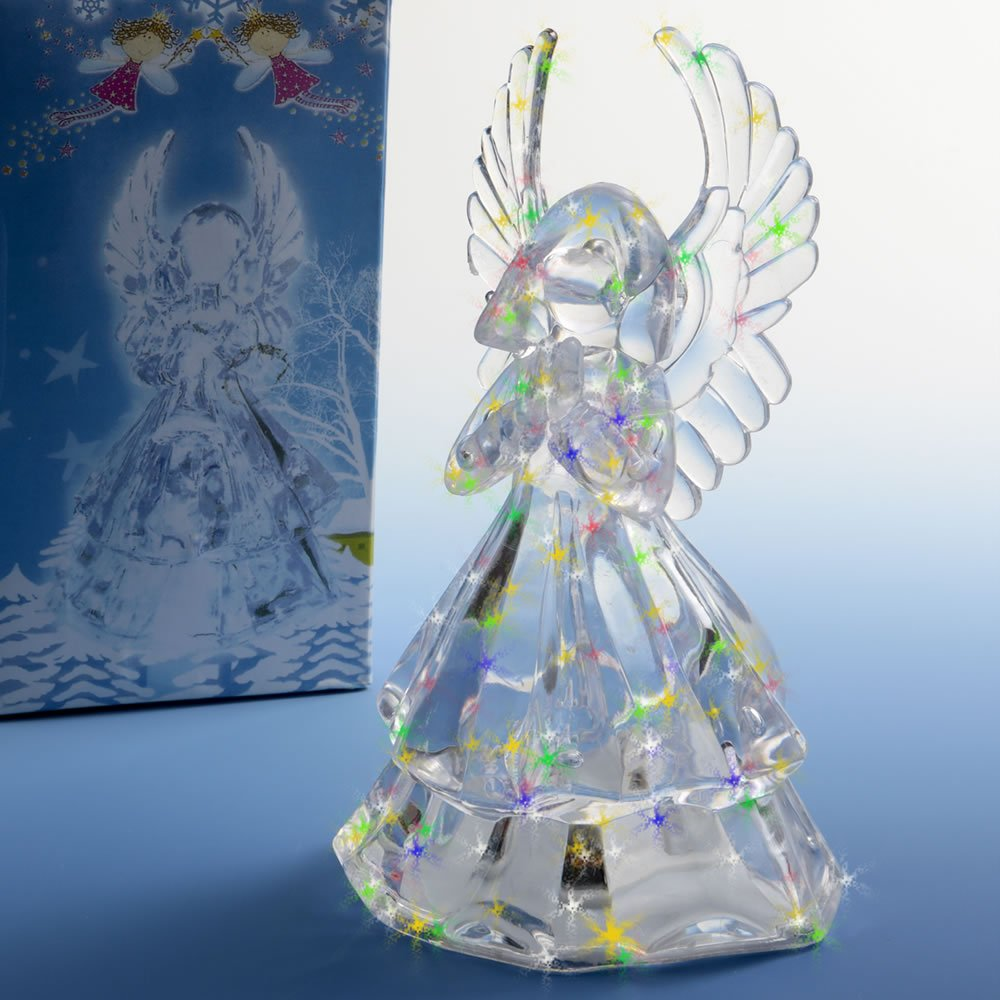 19 Light up Clear Acrylic Angel Centerpieces/Cake Tops
