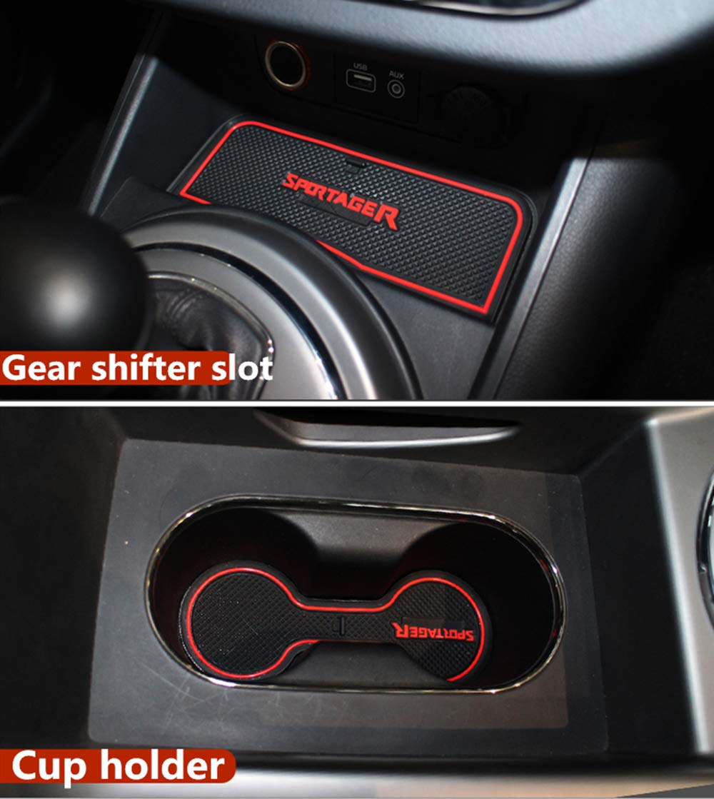 12pcs Custom Fit Cup Holder and Door Liner Accessories fits for KIA Sportage R 2011 2012 2013 2014