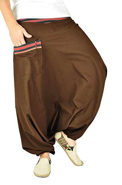 Pantalones bombachos hombre y mujer virblatt con tejidos tradicionales  talla única pantalones cagados con cómodo cinturón elástico 2af74dc2c043