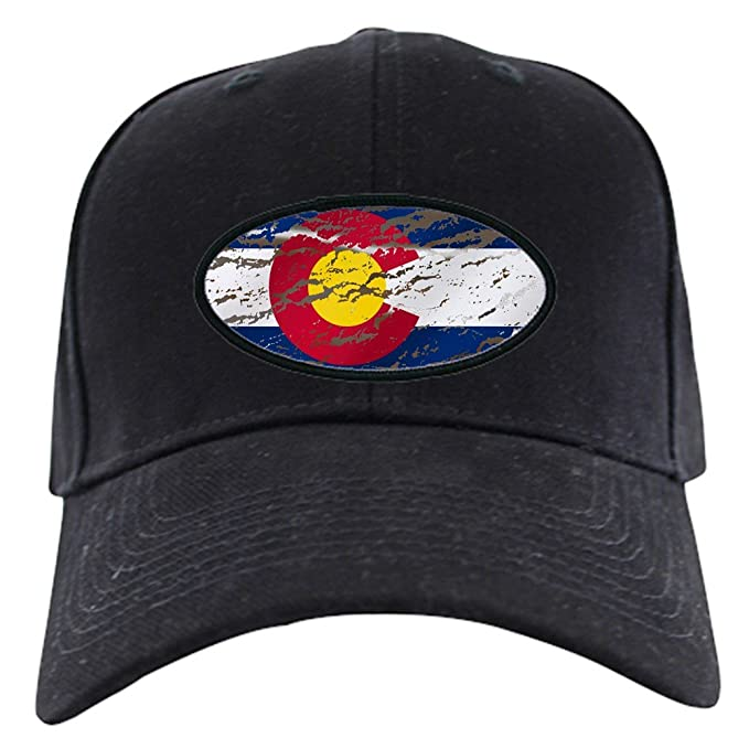 Amazon.com  CafePress - Colorado Vintage Flag - Baseball Hat ... 031f0784e03d