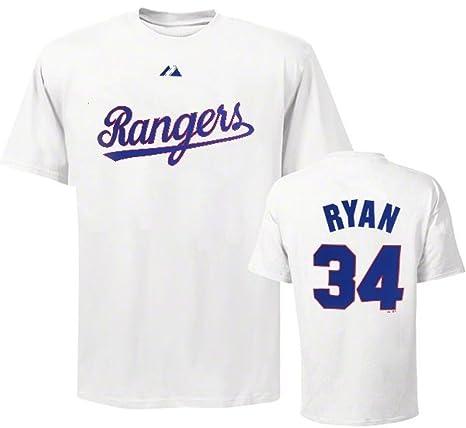 48cef76301d Majestic Nolan Ryan Texas Rangers  34 Vintage White Tee Shirt Big Sizes  (3XL)