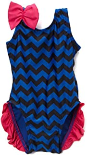 product image for Navy Chevron One Piece Girls with Ruffles Size 2T