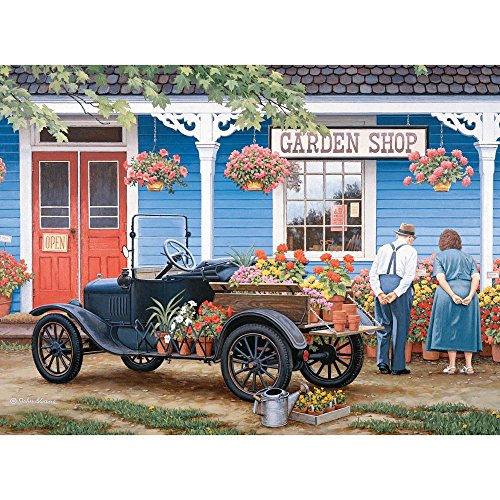 Pc Just (Bits and Pieces - 1000 Piece Jigsaw Puzzle for Adults - Just One More - 1000 pc Garden Shop Jigsaw by Artist John Sloane)