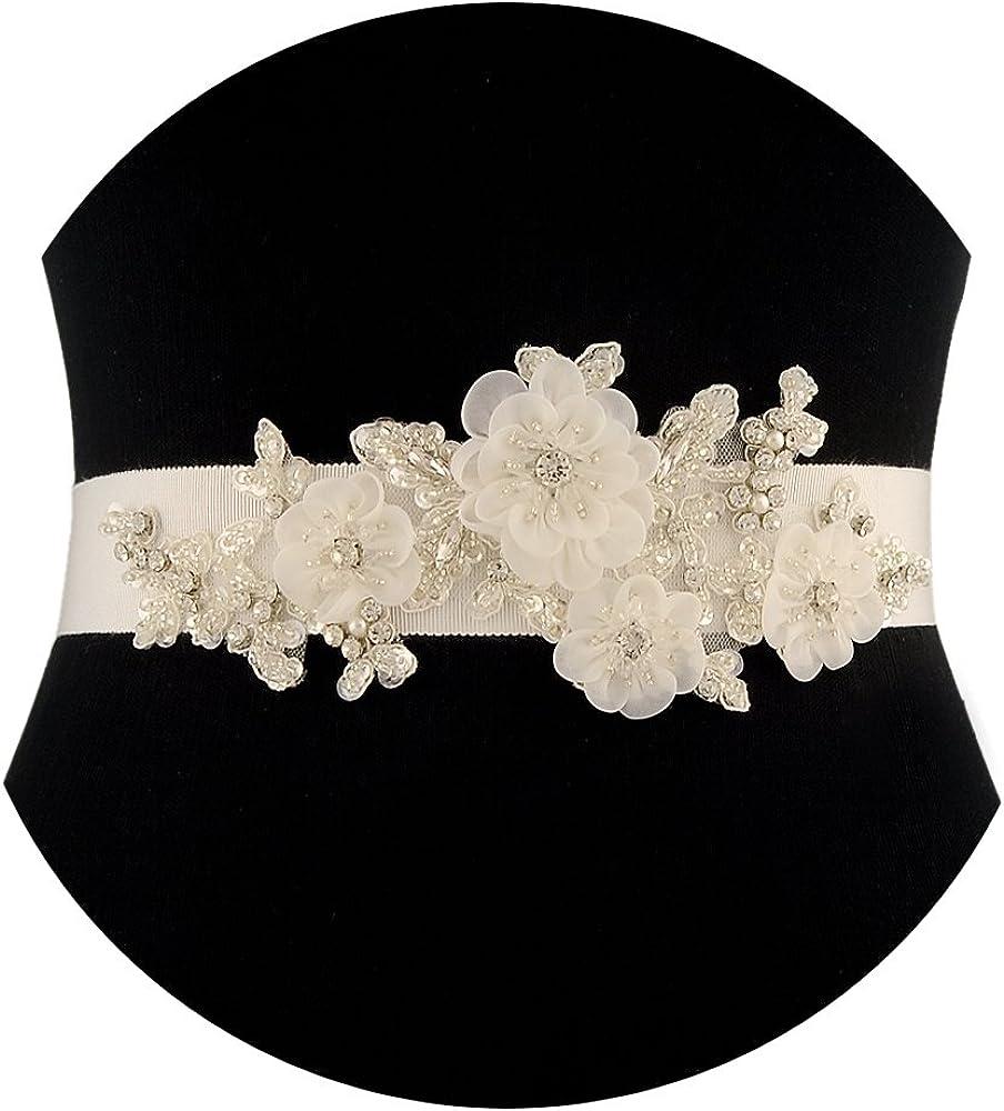 THK-Wedding Floral Beaded...
