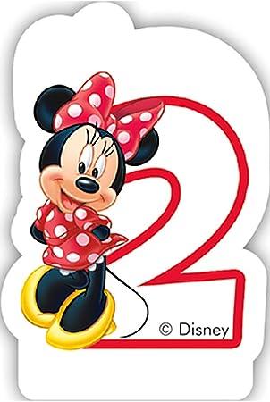 Vela Número 2 * * Minnie Mouse para niños Cumpleaños/Fiesta ...