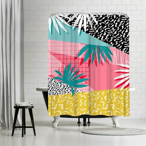 Americanflat Bingo Shower Curtain by Wacka Designs, 74'' H x 71'' W x 0.1'' D
