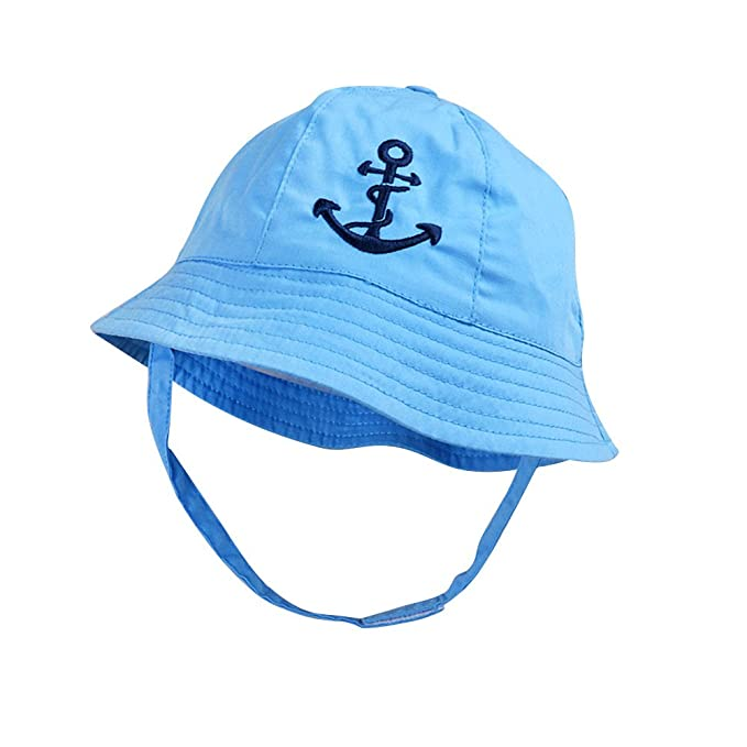 Image Unavailable. Image not available for. Color  IMLECK Baby Reversible  Bucket Cartoon Pirate Sun Protection Hat Blue efd84e09670b