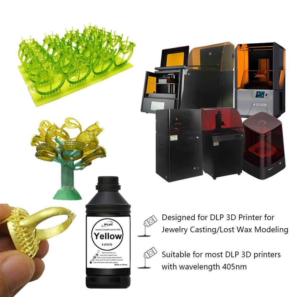 Amazon com: IFUN Jewelry Casting Resin for DLP 3D Printer Lost Wax