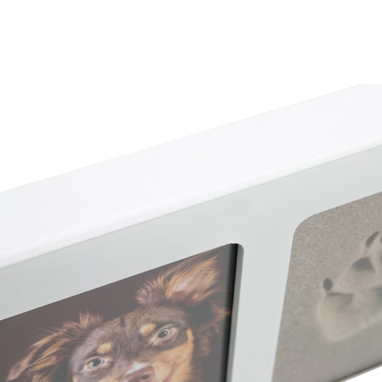 pet imprint Pfotenabdruck 3D Set Formschaum grau, Bilderrahmen aus ...