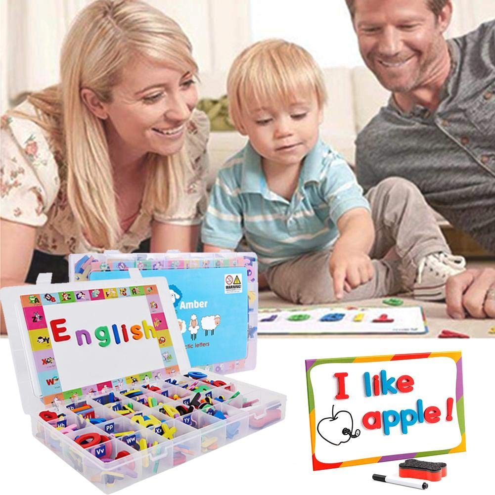 Children's Early Education Toy Magnet Children's Gift Set Letters English Magnetic Stickers Toy Letters Fridge Stickers Magnetic Letters Numbers Education For Preschool Learning Spelling Counting by Roche.Z