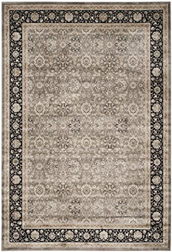 Safavieh Persian Garden Collection PEG608P Traditional Grey and Black Viscose Area Rug 8 x 11