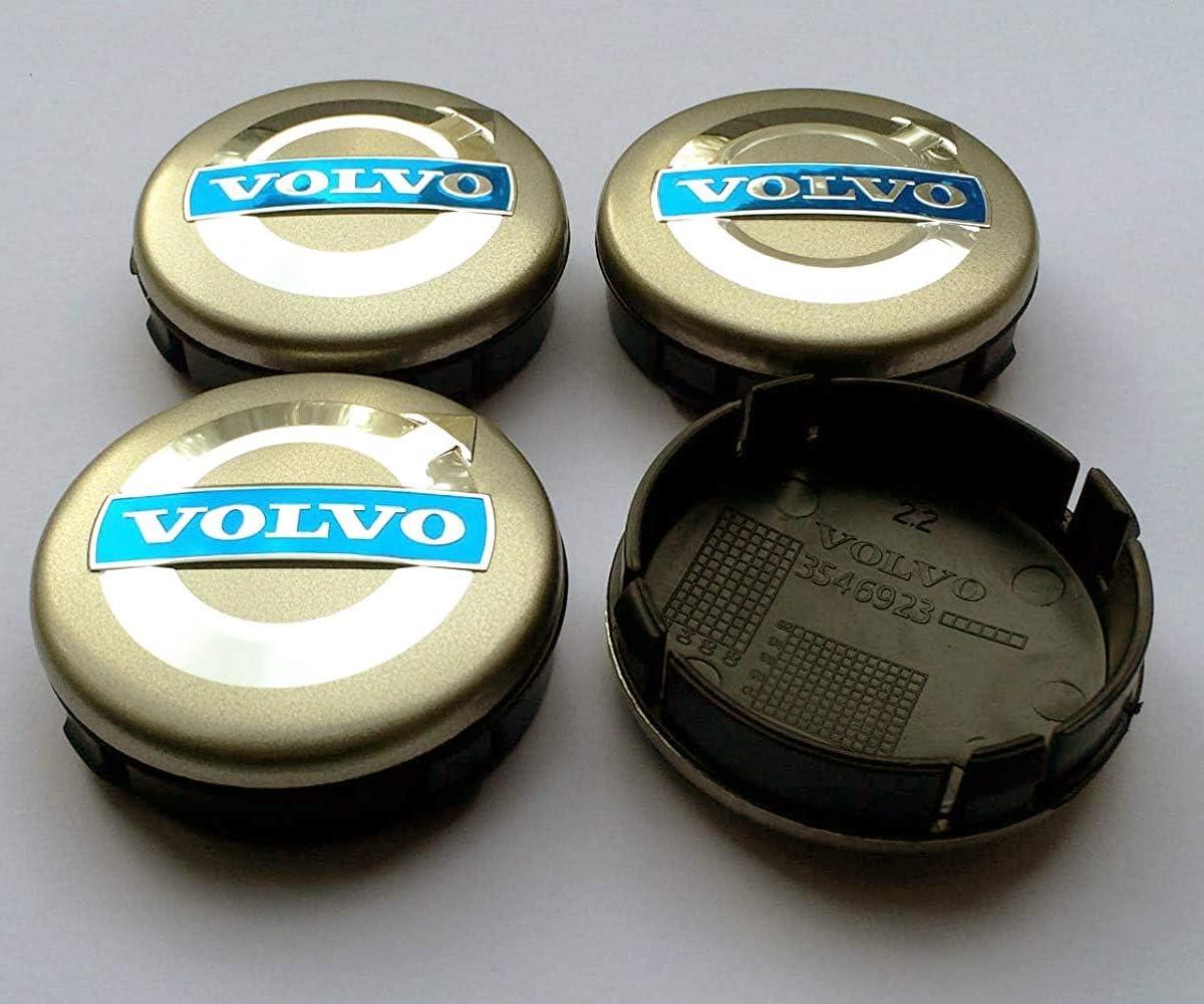 4 Cache Moyeu Centre de Roue Volvo 64mm Logo Emblème Volvo S60 S80L XC60