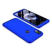 Bigcousin Funda 360 Grados Protección Ultra Slim Cubierta PC Hard Case + Cristal Templado,3 in 1 Carcasa Case Cover para iPhone