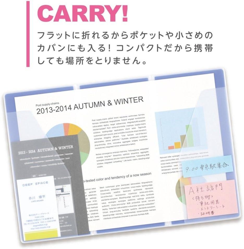 KINGJIM ORETTA Three-fold Holder File A4 Size Transparent type 796T Japan