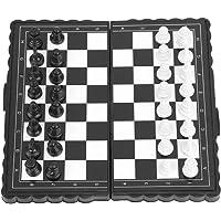 VBESTLIFE Ajedrez magnético con Tablero de ajedrez Plegable de plástico, Juego de Viaje portátil Juego de Mesa de ajedrez Juguetes educativos para niños y Adultos Actividades Familiares