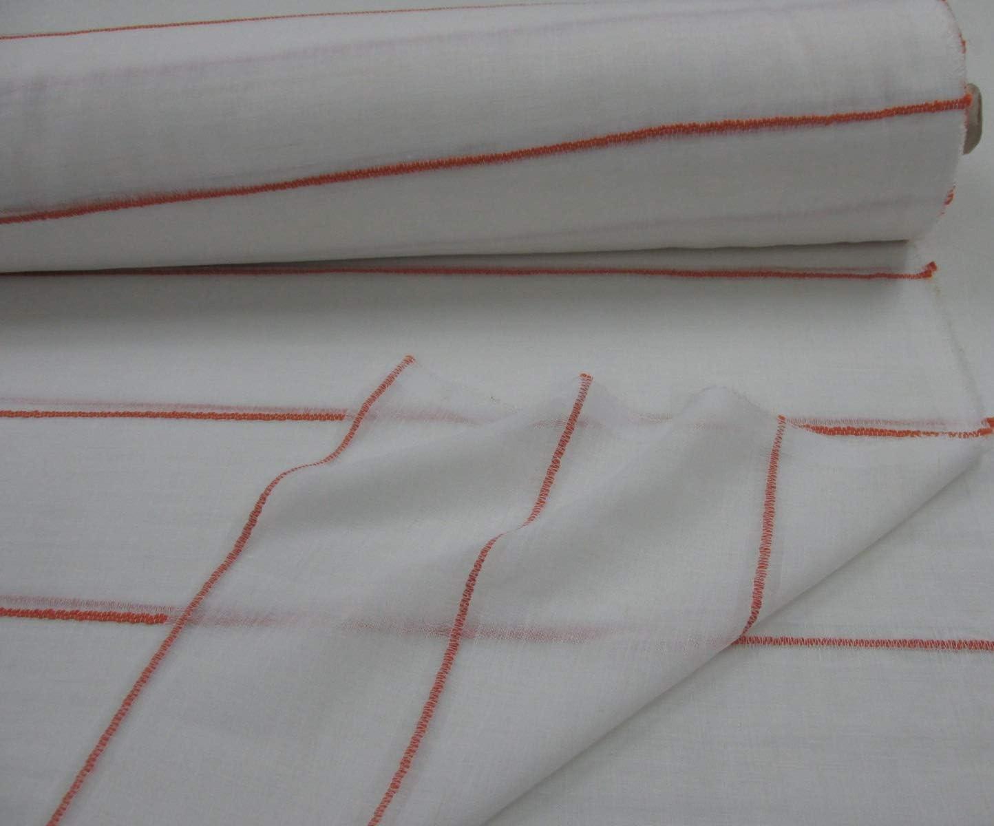 Confección Saymi Metraje 0,50 MTS Tela Visillo semilino Cortinas Ref. Semilino Raya Naranja, con Ancho 2,90 MTS.: Amazon.es: Hogar