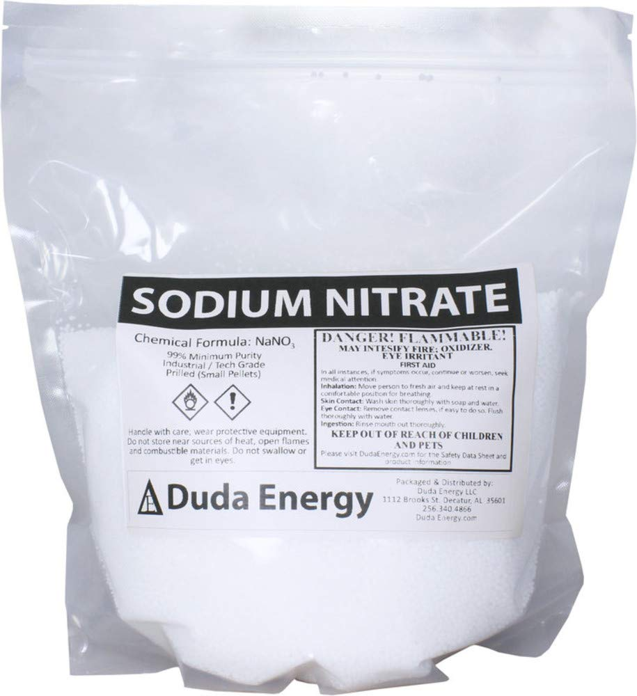 Duda Energy 5sn 5 lb. Sodium Nitrate Fertilizer 99+% Pure Chile Saltpeter Gold Metal Refining Industrial Grade Glass Pottery Enamels