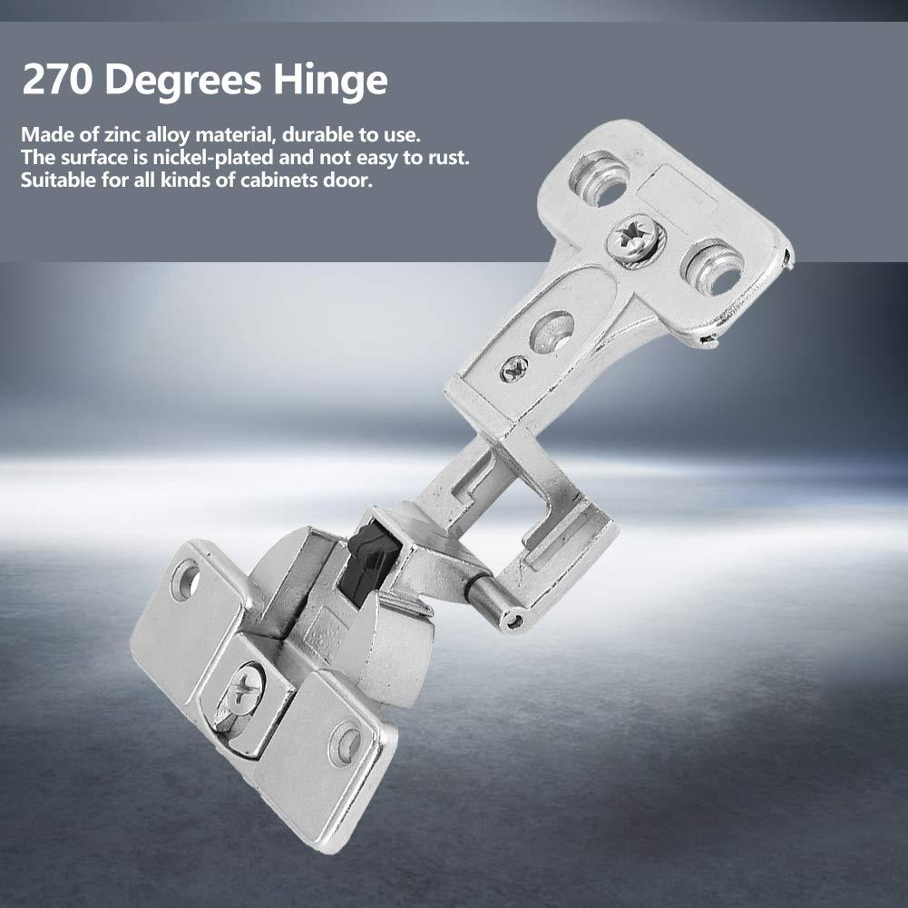 Cerniera 180 Gradi Cerniere per Porte 1pcs 270 di Accessori in Lega Zinco Pieghevoli Mobili Taglia : Movable