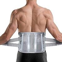 DOACT Cinturón de apoyo lumbar para hombres y mujeres, cinturón de apoyo lumbar con correas de compresión ajustables…