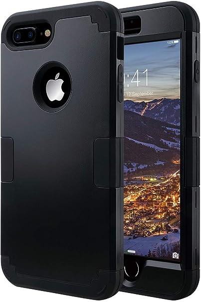 ULAK Cover Compatibile con iPhone 7 Plus,iPhone 7 Plus Custodia Apple Silicone Ibrida a Protezione Integrale Cover iPhone 7 Plus Rigida con Parte ...
