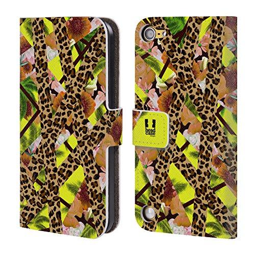 Head Case Designs Leopardo Tropicale Trend Mix Cover a portafoglio in pelle per iPod Touch 5th Gen / 6th Gen
