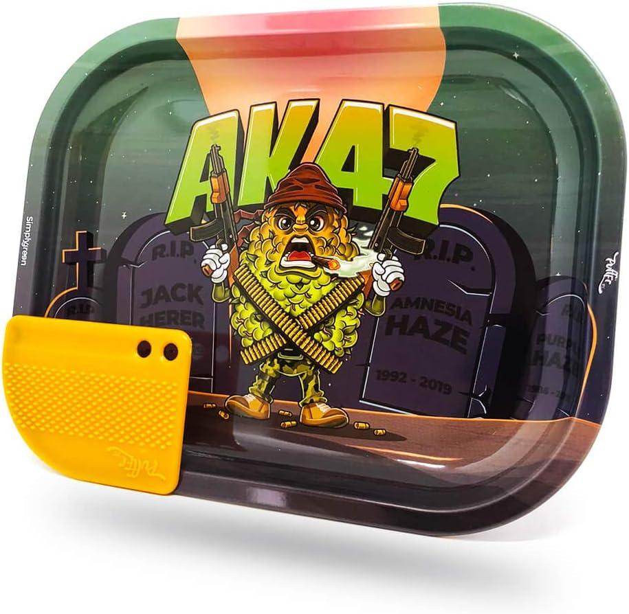 Vip Vape AK47 Best Buds - Bandeja con ruedas (metal, 14 x 18 x 2 cm), diseño de animales