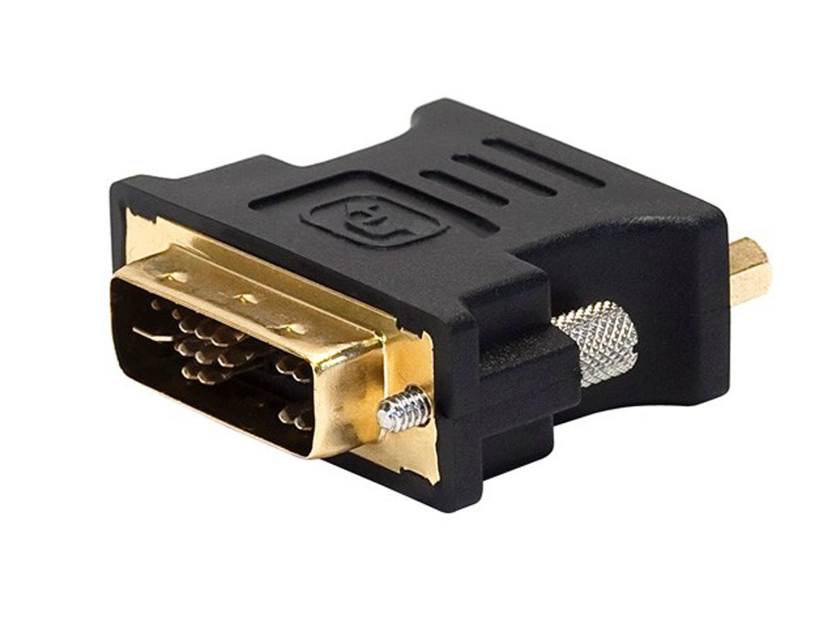 DVI-A Male to HD15 VGA Male Adapter Gold