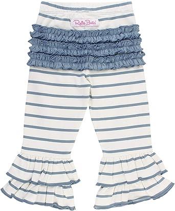 RuffleButts Girls Stretchy Flare Pants w//Ruffles