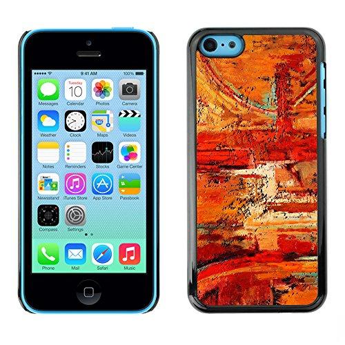 Premio Sottile Slim Cassa Custodia Case Cover Shell // V00001936 Peinture abstraite // Apple iPhone 5C
