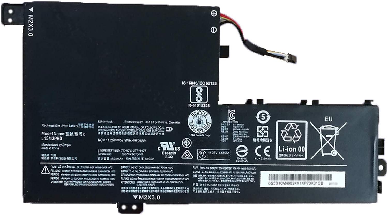 SUNNEAR L15M3PB0 Laptop Battery Replacement for Lenovo Flex 5 1470 1570 IdeaPad 320S-14IKB 320S-15ABR 320S-15IKB 320S-15ISK 520S-14IKB Yoga 520-14IKB Series L15L3PB0 L15C3PB1 11.25V 52.5Wh - Type A
