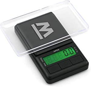 Truweigh - APEX Digital Mini Scale - (1000g x 0.1g - Black) and Long Lasting Portable Grams Scale - Kitchen Scale - Food Scale - Postal Scale - Herb Scale - Pocket Scale - Small Scale
