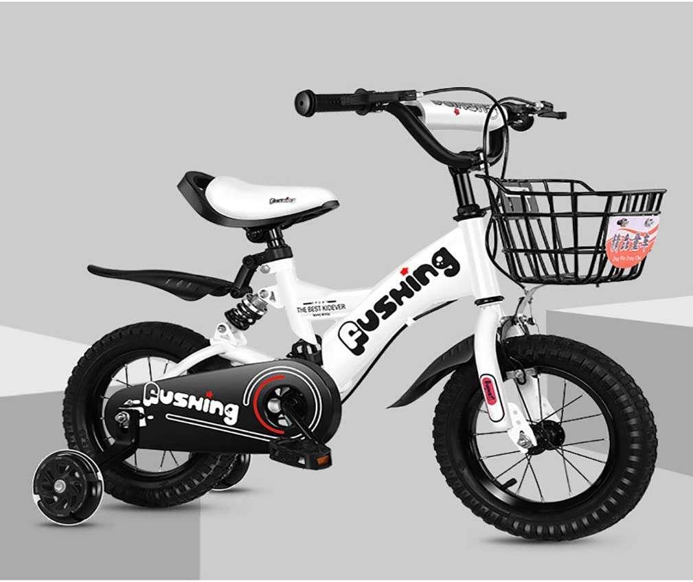 Bicicleta NiñOs con Cesta,3 Colores Marco Acero Ruedas ...