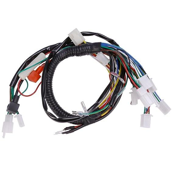 amazon com: quioss electric wire wiring harness for chinese atv utv quad 4  wheeler 50cc 70cc 90cc new: automotive