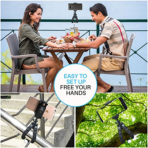 GoStellar Universal Flexible Mini Tripod, Lightweight, Ball Head for Cameras and Smartphone Devices, Mount Adapter, Bluetooth Remote Shutter (Wrist Strap) by GoStellar (Image #1)